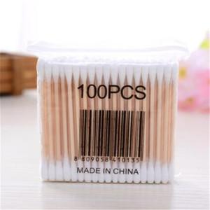 Make up Doppelkopf Holzstäbchen Wattestäbchen Stick Knospen für medizinische Kur Gesundheit Beauty Nasenohren Reinigung
