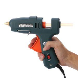 Freeshipping Profissional Elétrica Hot Glue Gun Switch 60/100 W Hot Melt Glue Máquina com 20 Pcs Cola Varas de Aquecimento Craft Repair ferramenta de poder