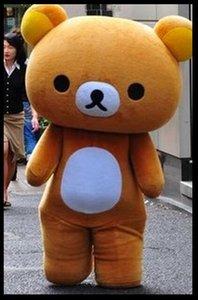 transporte da gota novos trajes da mascote urso Rilakkuma / preguiçoso personalizados vestir EMS transporte livre
