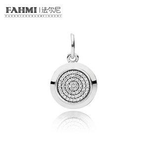 FAHMI 100% 925 Sterling Silver 1:1 Original 390375CZ Authentic Temperament Fashion Glamour Retro Pendant Wedding Women Jewelry