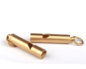 10 ملليمتر الصلبة النحاس edc الطوارئ السلامة بقاء المعونة صافرة المفاتيح للتخييم التنزه أدوات