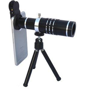 18x fotocamera del telefono cellulare lente universale 18X ottico del telescopio dello zoom con lega di alluminio treppiede per iPhone Huawei Smartphone
