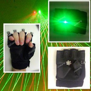 ST05-1 palm ışık Ile 3 kırmızı 1 yeşil lazer kafaları lazer eldiven renkli 4 adet kafaları lazer eldiven Disko dj balo salonu dans kostümleri robot adam dj
