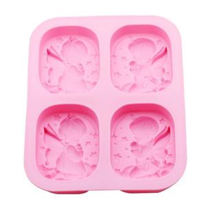 الملاك شكل سيليكون قالب الكعكة تزيين صنع الحلوى فندان الطين الصابون عالية الجودة كعكة أداة مطبخ شحن مجاني