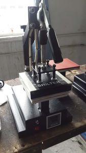 Heißere CER digitale Hitze-Presse-Handbuch 15 * 15cm Doppeltes Arbeitstisch-Logo gedruckte Schwingen-Wärmeübertragungs-Maschine