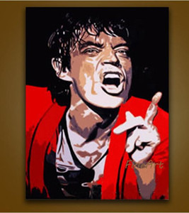 handmade oil painting pop art canvas painting Michael Jackson wholesale canvas painting ideas decoration of the walls in the bedroom