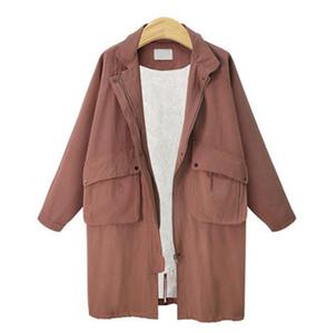La Sra. Han edición de la nueva personalidad de época de la boutique de moda en ropa larga de lana acolchado de algodón chaqueta cortaviento XL - 4 XL