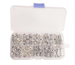 345 шт. / Коробка Антикварный серебряный металлический заливной разъем Ссылки с контейнерами (10 стилей)