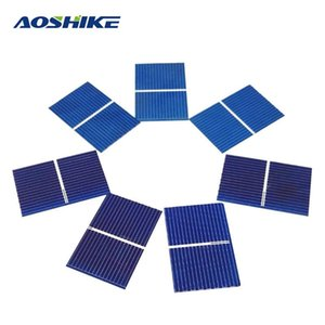 Aoshike 100pcs 태양 전지판 Sunpower 태양 전지 광전지 다결정 DIY 태양 전지 충전기 0.5V 0.17W 39x26mm