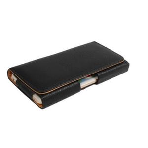 Clip ceinture universelle en cuir PU taille cas Flip Housse pour Huawei P20 Pro / P10 Plus / P9 Plus