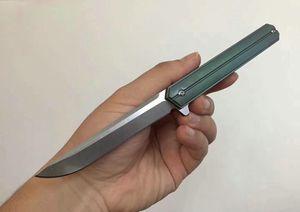 Top Bearing Bola qualidade Flipper Faca D2 Stone Wash Lâmina TC4 liga de titânio EDC Canivetes BLOQ Knifeves presente