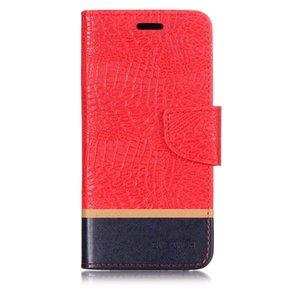 Splice Cor Caso carteira Para padrão Asus Zenfone 5Z ZS620KL FILP Tampa Crocodile PU couro para telefone celular Bolsas última moda