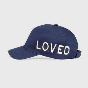 2020 New Retro Love Ball Cap Plaid-Stickerei-Hut Qualitäts-reine Baumwolle Baseball-Mütze Adjustable Vati-Hut Leisure Golf Cap