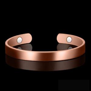 Cuidado de la salud Magnetic Copper Bangle pulsera Curación Bio terapia Artritis dolor alivio brazalete abierto brazalete mujeres hombres joyería regalos accesorios