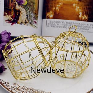 Wedding Favor Box Европейские Творческие Золотые Коробки Matel Романтическая Кованая Птичья Клетка