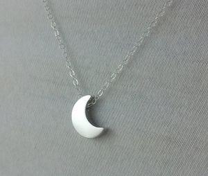 Or / Argent Dainty Crescent Moon Collier Minimaliste Half Moon Collier Chaîne Pendentif Bijoux Accessoire Cadeau