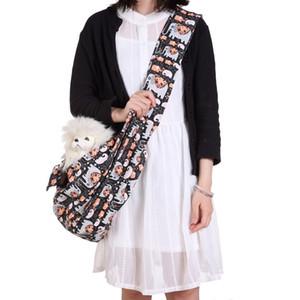 애완 동물 슬링 개 고양이 슬링 Carriers Messenger Bag Totes 고양이 용 개 토끼 최대 13 lbs / 칼라 래치가있는 추가 안전