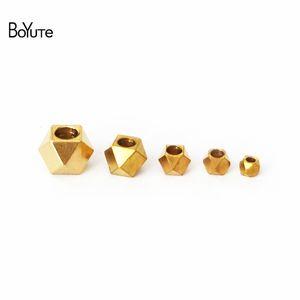 BoYuTe 100Pcs HOT sale Metal Brass 2MM-2.5MM-3MM-4MM-5MM Princess-cut Square Spacer Beads Fashion DIY Jewelry Making