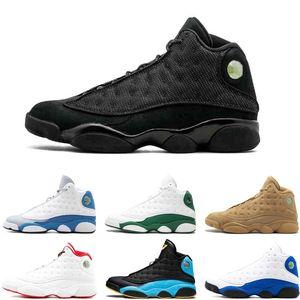 2019 Hot Preto 13s gato tênis de basquete Barons Holograma Bred frescos homens cinzentos sapatos dos pés Grey Sneakers mais baratas