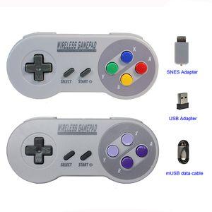Gute Spielekonsole mit Joystick-Gamepads für drahtlose NES (SNES) Super Nintendo Classic MINI-Konsole
