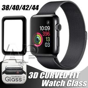 Para Apple Watch 5 protector de pantalla de cristal templado de cubierta completa 3D 40mm 42mm 38mm 44mm anti-scratch burbuja libre para iWatch Series 2 3 4