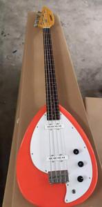 Редкие 4 Strings Tear Drop Vox Phantom Salmon Orange Solid Body Electric Bass Guitar Chrome Hardawre, кленовый гриф палисандр Накладка