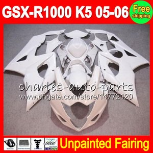 8Gifts Kit de carenado completo sin pintar para SUZUKI GSX-R1000 K5 05-06 GSXR1000 GSX R1000 GSXR 1000 K5 05 06 2005 2006 Carenado Body Body Kit