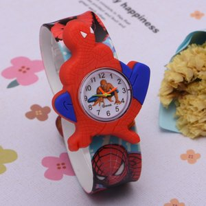 banda di colore 3d Orologi fumetto Spiderman orologi dei bambini di modo dei ragazzi Bambini Studenti Spider-Man Sport silicone analogico da polso