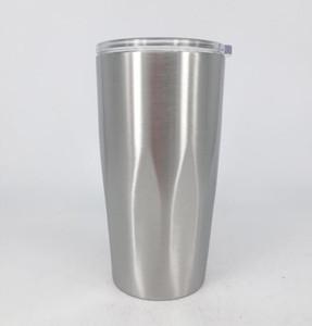 Neuer Art-Edelstahl-Becher-Vakuum Isolierdoppelwand 20 Unze Becher mit klaren Deckeln Reise-Becher Halten Sie kalte oder heiße Getränke