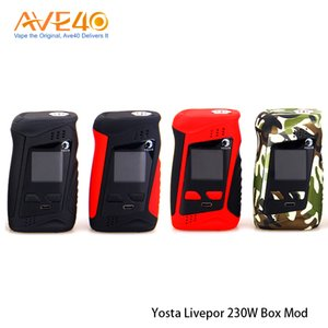 Authentische Yosta Livepor 230 TC-Box Mod 230w Mit IPS-Bildschirmleistung von 1,33 Zoll Farbe durch zwei 18650-Batterien