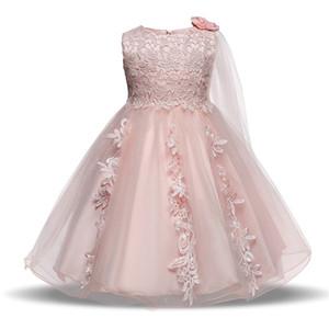 Nouvelle marque fille de fleur robe pour bébé enfant bébé fille robe de soirée jupe fille pettiskirt anniversaire costume 2-4 ans vêtements pour enfants