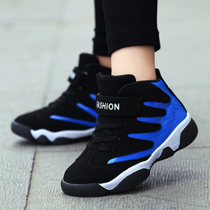 Basketball Shoes Kids 2018 New Boy Antiskid Youth Sports Shoes Cheap Outdoor Sneakers China Sale