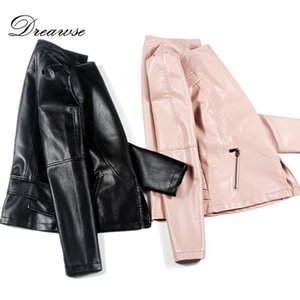 Dreawse Spring New Plus Size 5XL Breve Giacca in pelle PU Giacca a maniche lunghe da moto in pelle Donna Marea Chaqueta Mujer MZ2218