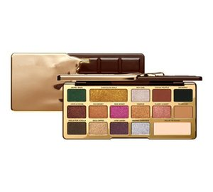2018 Newest Makeup 16 color White and Gold Chocolate Bar Chip palette 16 Color Eye Shadow Limited Edition Matte eyeshadow Palette DHL free