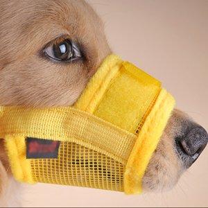 4 renkler Pet Köpek Namlu Ağız Ayarlanabilir Naylon Köpek Pet Güvenlik Ağız Kapak Namlu Örgü Anti Bite Chew Kapsayan Namlu
