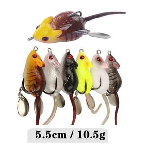 Новая Реалистичная Мышь Мягкая приманка 5.5 см 10.5 г 3D Искусственная Резина Мышь Рыболовный Крючок Spinner приманка