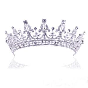Yeni Varış Kristal Düğün Saç Aksesuarları Gelin Tiara Kadınlar Rhinestone Taç Saç Takı Gelinler için Diadem tiara de noiva S919