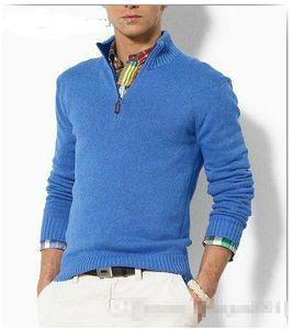 Gros-nouvelle arrivée cardigan v col polo chandail, manteau décontracté en coton hommes, chandail tricoté moitié marque pull à capuche