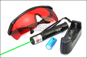 SDLasers GS1-0050 532nm Green Laser Pointer With 1*16340 Li Battery & Charger & Goggles Funny Pet stick Childrens Cat Toys