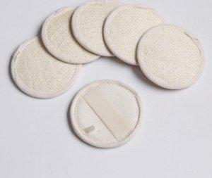 8 * 8 cm Ronda Forma Natural Loofah Pad Scrubber Loofah Esponja Ducha de Baño Facial Body Exfoliator Bath Scrubber SN1082