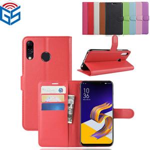 Chinesischer roter Mappen-lederner Schlag-Abdeckungs-Fall für Asus Zenfone 5 ZS620KL 5Z ZE620KL / 4 Selfie ZD553KL ZB553KL geben Schiff frei
