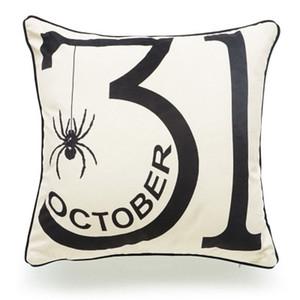Pillow Case Halloween Cotton Linen Pumpkin Trick Or Treat Throw Pillow Cover Car Sofa Cushion Cover Party Decorative Pillowcase 10 Color