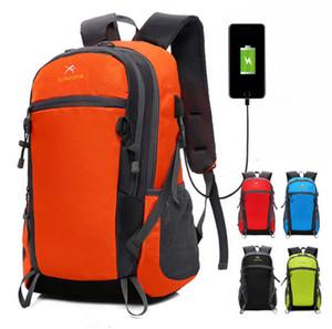 2018 New Style Mehrzweck Outdoor USB Lade Sport Rucksack Camping Tasche Rucksäcke Reise Rucksack Computer Tasche