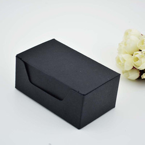 93*57*40mm Black Kraft Paper Box, Gift kraft Business Card Packaging Box LZ1848