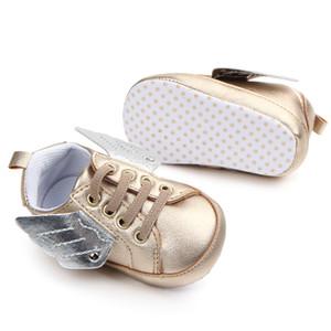 Neugeborenes Baby Erste Wanderer Schuh Kleinkind Pony Flügel Kleinkind Stiefel Junge Mädchen Engelsflügel Booties Schuhe Prewalkers