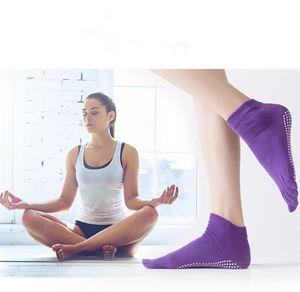 2018 New Professional Colorful Sport Calze da yoga Fitness Calze da dito in cotone Donna Calze da Pilates Antiscivolo Dance Pilates Sox