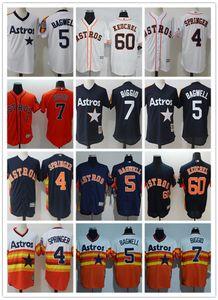 Custom Men Women Youth Astros Jersey #4 George Springer 5 Jeff Bagwell 7 Craig Biggio 60 Keuchel Home Wholesale Baseball Jerseys
