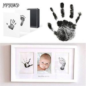 HPBBKD Baby-Handabdruck Fußabdruck ungiftige Newborn Impressum Hand Inkpad Wasserzeichen Souvenirs Infant Casting Sandspielwaren-Geschenk -015