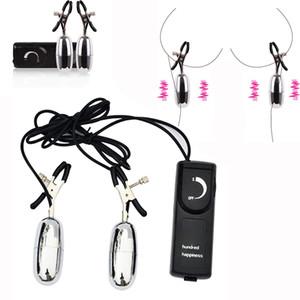 Multi Speed Vibrating Nipple Clamps Nipple Clip Vibrador Estimuladores Masajeador Juguetes Sexuales Eróticos para Mujeres Adultos Productos