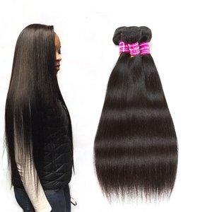 Оптовая Бразильский Девы волос Straight Необработанные человеческих волос 8А класса Pure Sale Черный цвет Hot Remy Weave Связки
